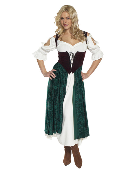 Adult Plus Size the Village Wench, Esmeralda Costme