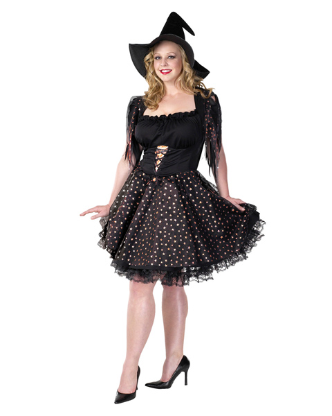Adult Plus Size Glitter Witch Costume