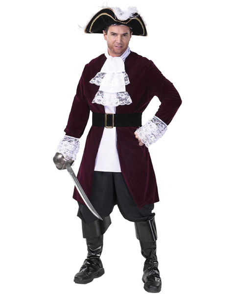 Mens Plus Size Pirate Captain Costume