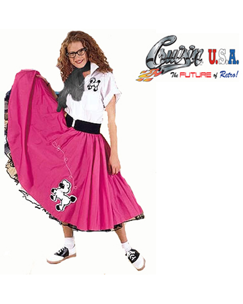 Plus Size Pink Complete Poodle Outfit Costume for Adult - Click Image to Close