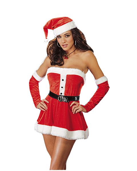 Adult Plus Santas Sweetie Costume