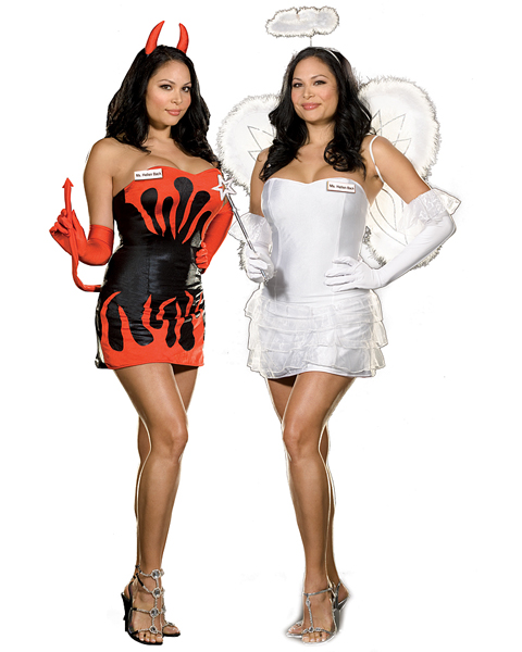Plus Size Ms Hellen Back Costume for Adult