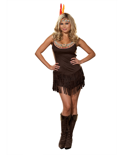 Womans Plus Size Pocahottie Costume