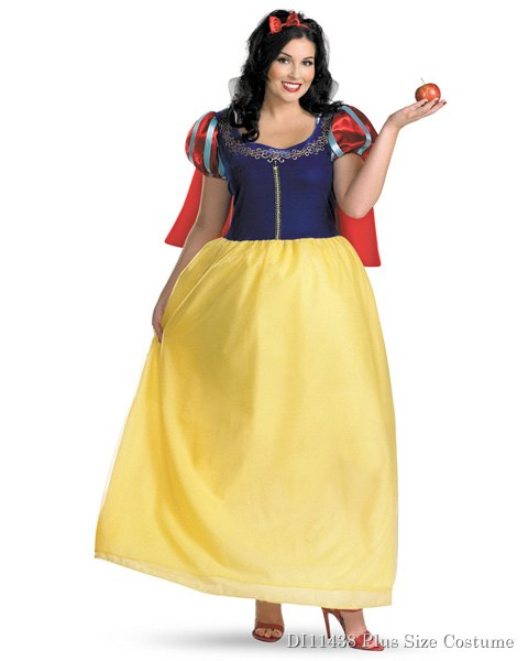 Womens Deluxe Snow White Plus Costume