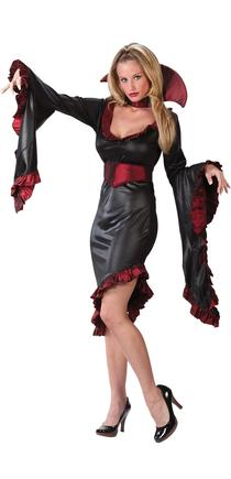 Ruffle Vampiress Plus Size Adult Costume