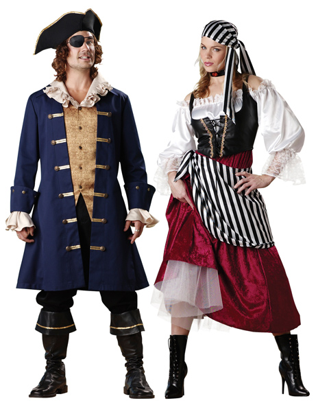 Adult Pirates Wench Elite Couple Costume