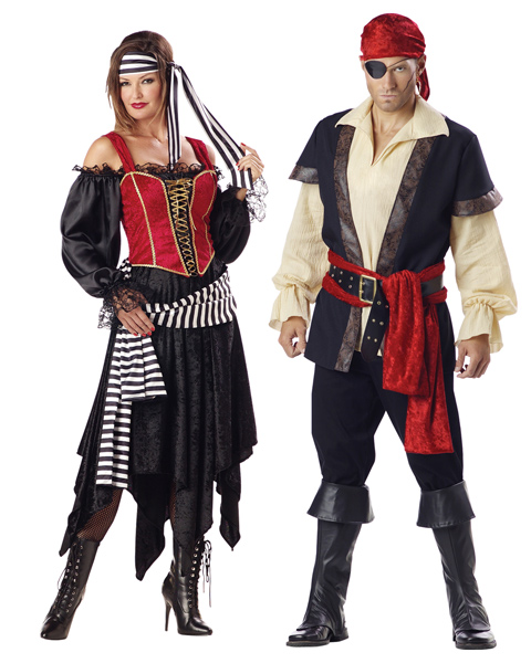 Adult Premier Lady Pirate Couple Costume