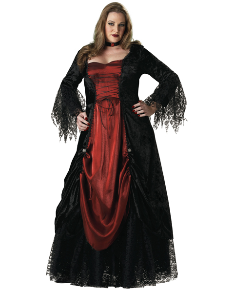 Plus Size Gothic Vampira Costume for Adult