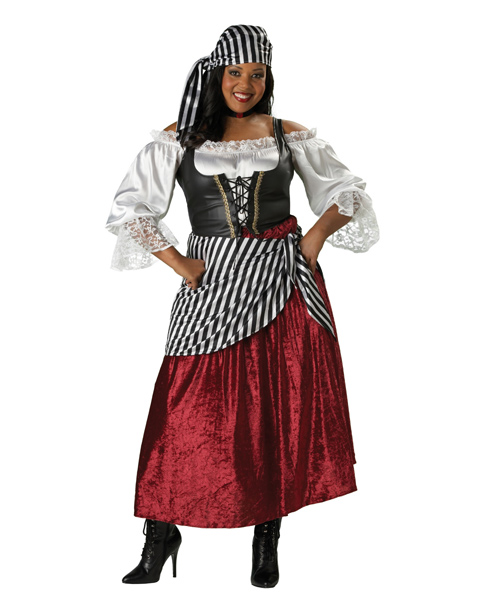 Adult Plus Pirates Wench Costume