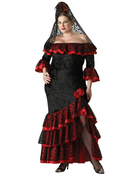 Elite Womens Plus Senorita Costume