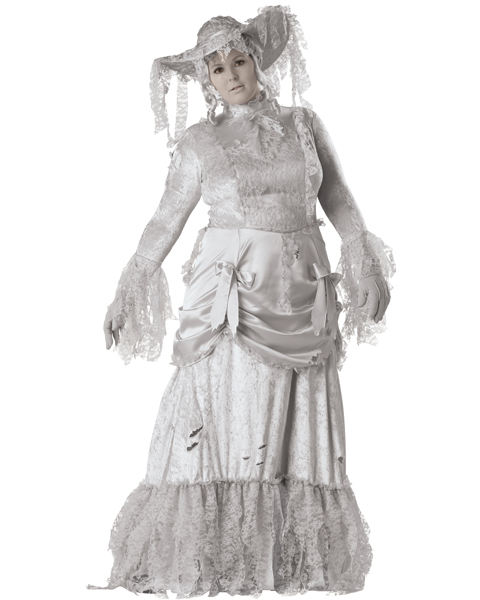 Elite Womens Plus Ghostly Lady Costume