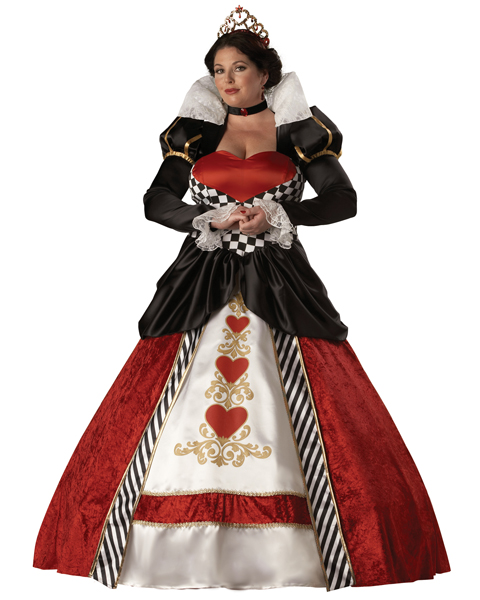 Plus Size Elite Queen of Hearts Costume for Adult