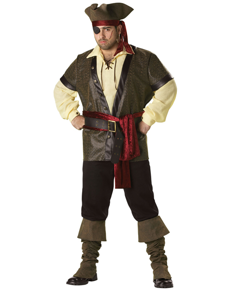 Plus Size Elite Rustic Pirate Costume for Adult