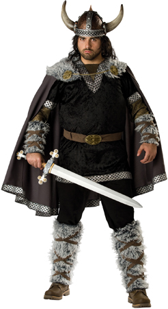 Elite Mens Plus Viking Warrior Costume