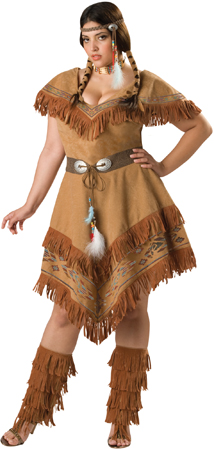 Womens Indian Brave Plus Size Costume
