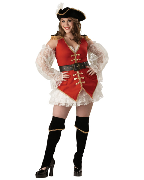 Adult Plus Pirate Treasure Costume