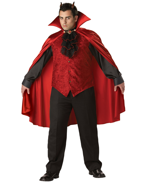 Plus Size Premier Dashing Devil Costume for Adult