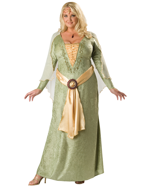 Premier Womens Plus Medieval Maiden Costume