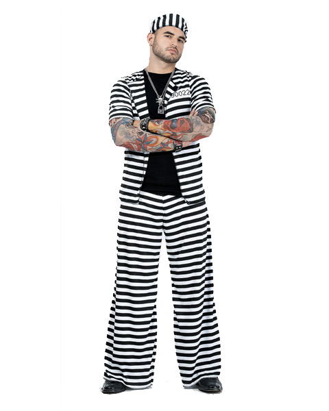 Mens Plus Size Prison Playa Costume