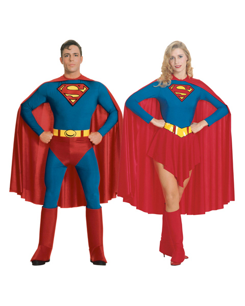 Adult Couples Supergirl Costume