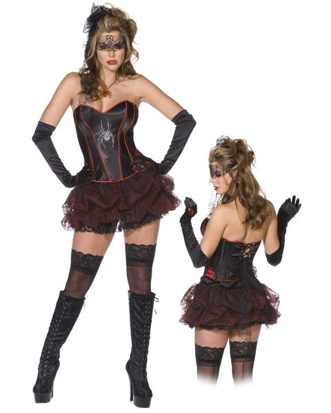 Womans Plus Black Widow Spider Costume