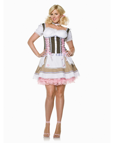 Sexy Heidi Ho Beer Girl Adult Costume Plus Size