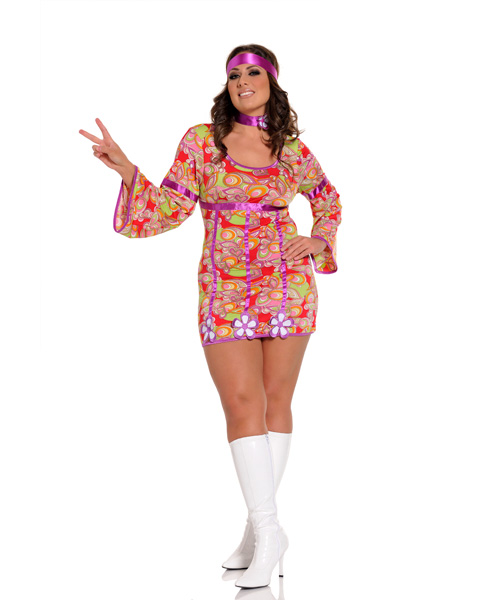Womens Sexy Free Love Costume Plus Size