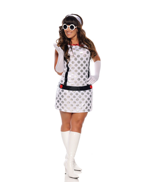 Womens Sexy Miss Mod Costume Plus Size