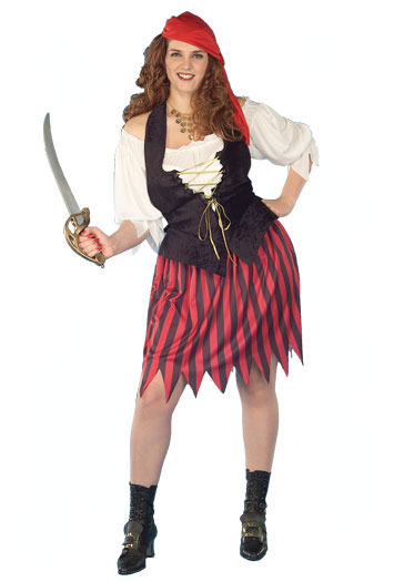Buccaneer Bride Plus Size Adult Costume