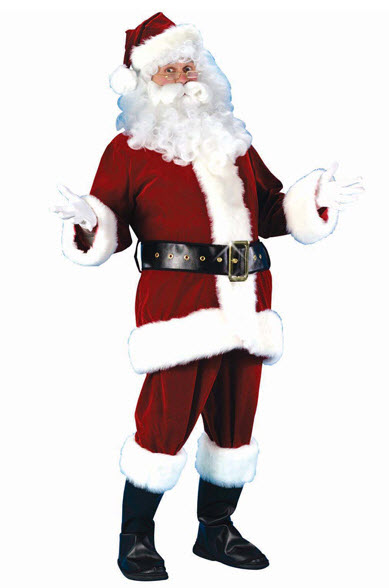 Santa Suit Ultra Velvet Plus Size Costume