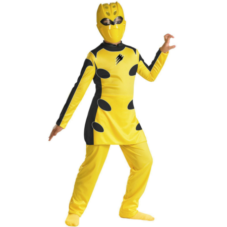 Power Rangers Jungle Fury Yellow Ranger Child Costume