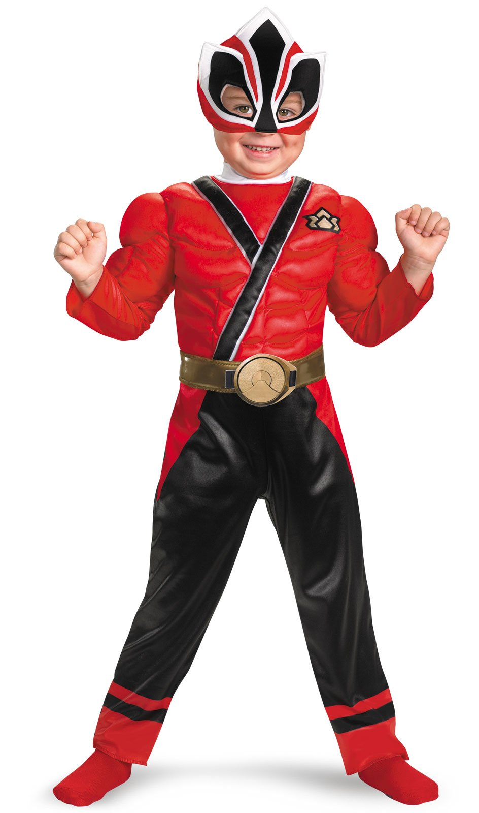 Power Rangers Red Samurai Ranger Muscle Chest Toddler Costume