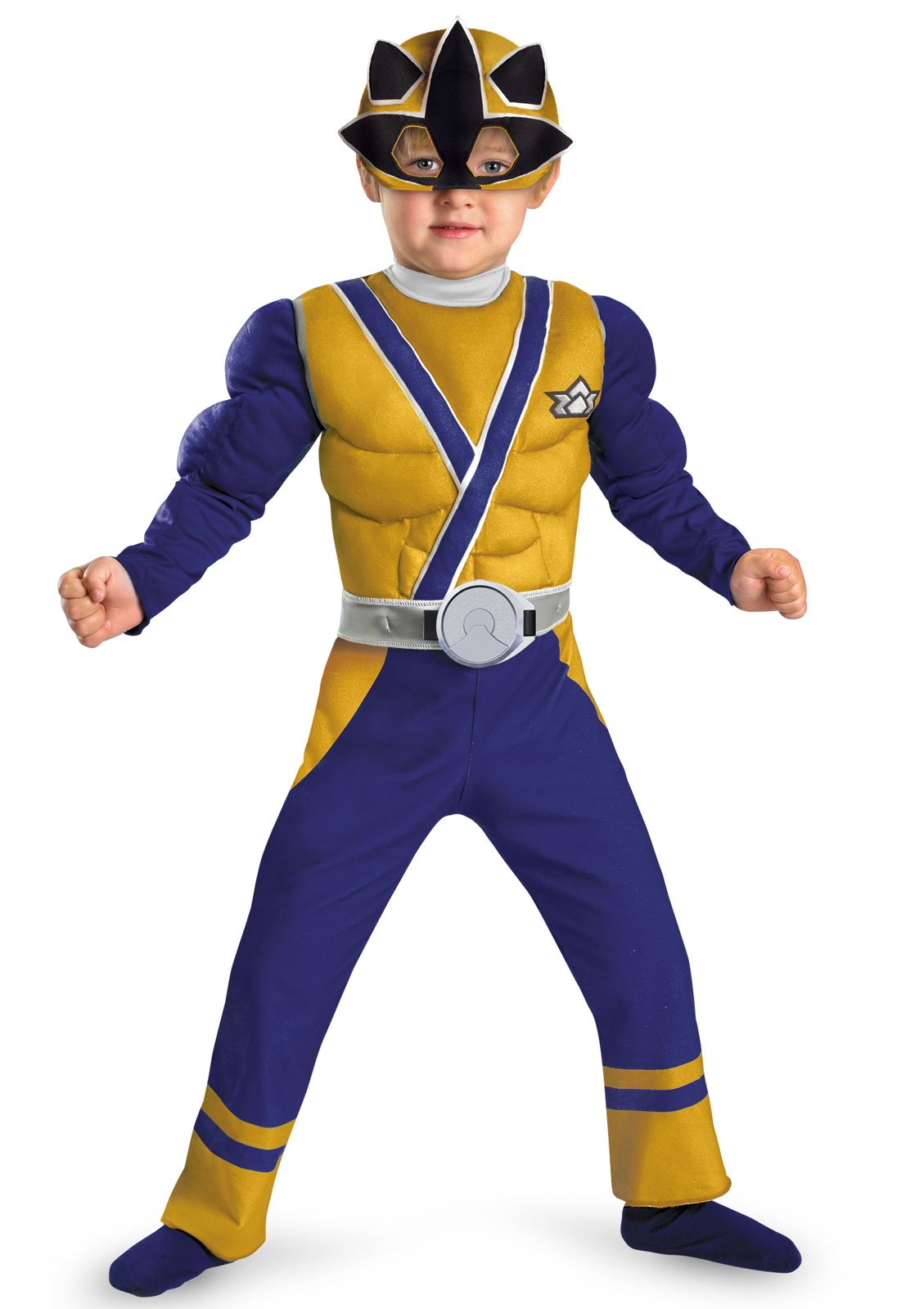 Power Rangers Gold Samurai Ranger Muscle Chest Toddler Costume