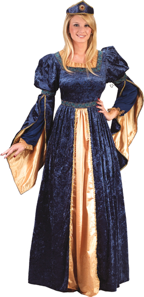 Blue Maiden Princess Plus Size Adult Costume