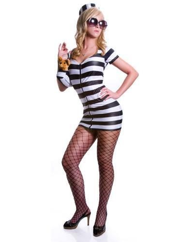 Princess in Prison Adult Costume Black and White