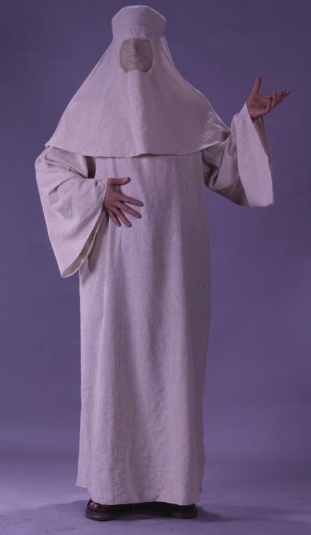 Berka Robe & Hood With Mesh Eyes Adult Costume