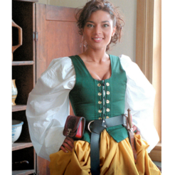 Galley Wench Gathered Skirt Renaissance Collection Adult