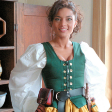 Galley Wench Twill Bodice Renaissance Collection Adult