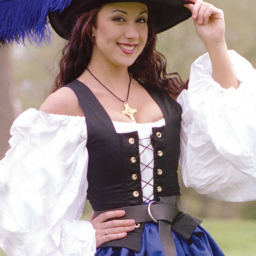 Country Wench Twill Bodice Renaissance Collection Adult
