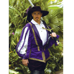 Italian Doublet (Purple) Renaissance Collection Adult Costume