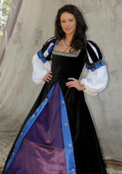 Jewel Black Spanish Brial Renaissance Collection Adult Costume