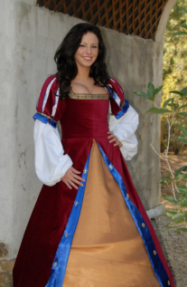 Jewel Rouge Spanish Brial Renaissance Collection Adult Costume