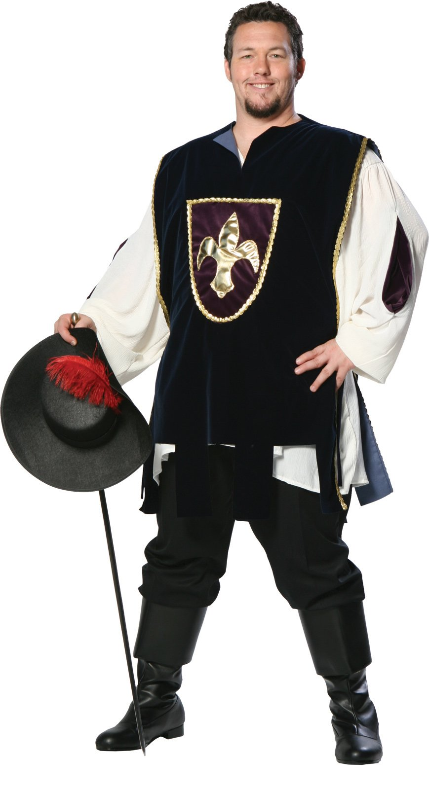 Musketeer Plus Adult Costume