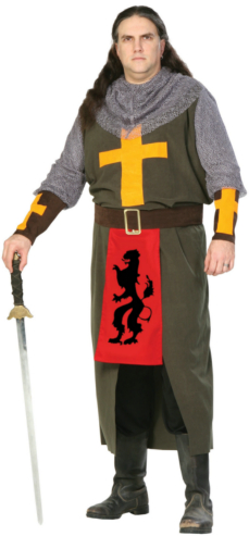 The Noble Crusader Plus Adult Costume