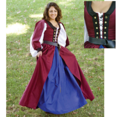 Celtic Dress (Burgundy) Renaissance Collection Adult Costume