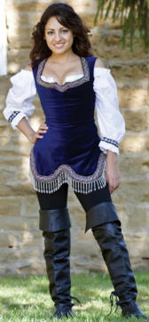 Jeweled Bodice (Admiral Navy) Renaissance Collection Adult