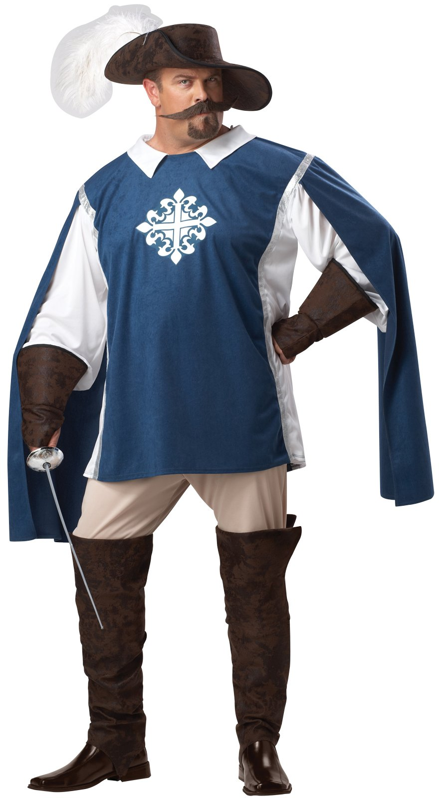 Musketeer Adult Plus Costume