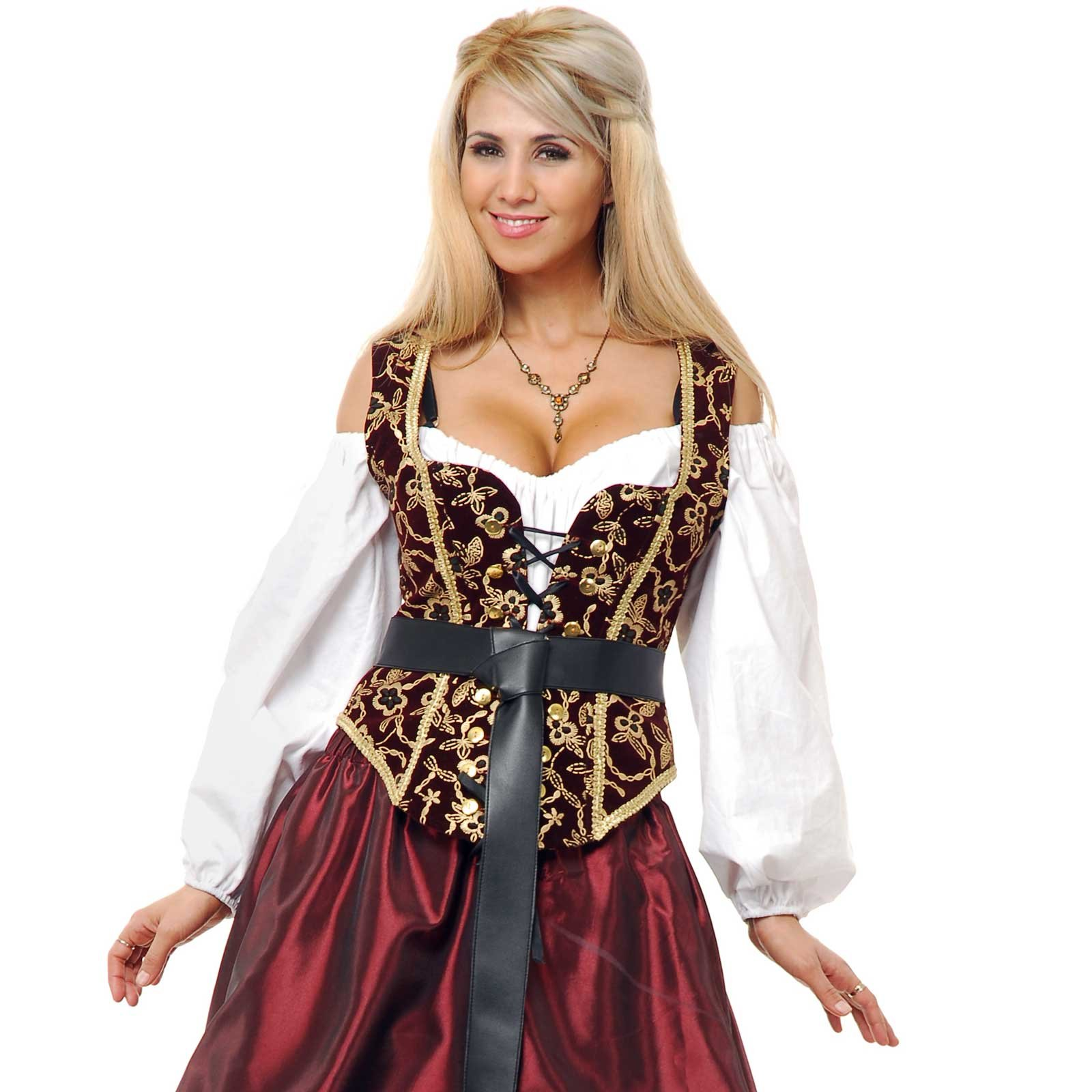 Black and Gold Corset Bodice Adult