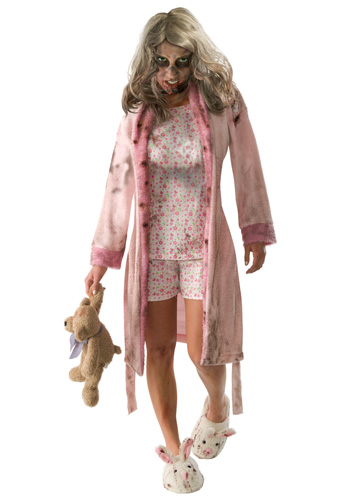 Adult Little Girl Zombie Costume larger image