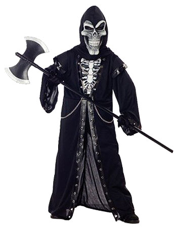 Crypt Master Kids Skeleton Costume